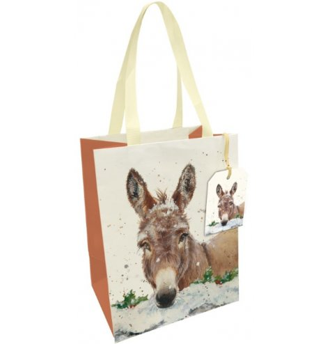 A fine quality gift bag with fabric handle and matching gift tag.