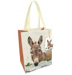 Fall in love with this charming Donkey design product range. This fine quality gift bag has a matching tag