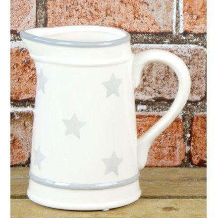 Grey Star Ceramic Jug