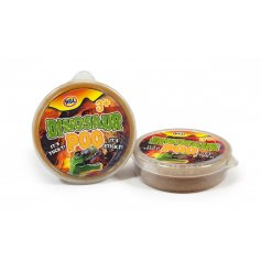 A small plastic tub filled with gross dino poop slime, a fun pocket money toy for little ones!