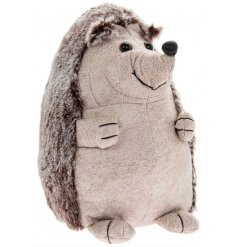 this adorable woodland hedgehog doorstop will be sure to bring a country charm to any interior