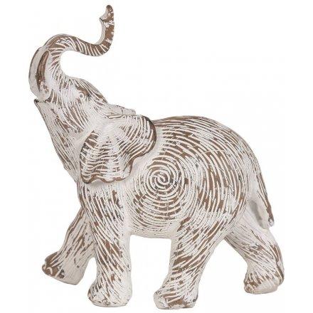 Etched Elephant, 18.5cm