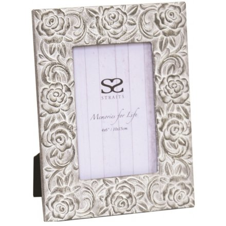 Floral Decal Picture Frame, 4x6""