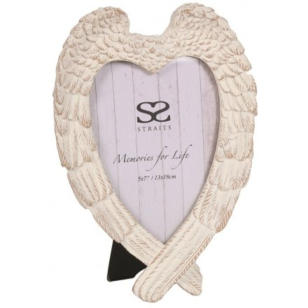 """Angel Wing Picture Frame, 5x7"""""""