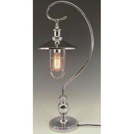 Edison Bulb Desk Lamp - Silver
