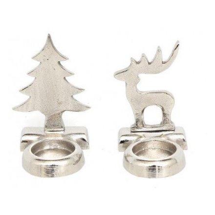Silver Aluminimum Tlight Holders