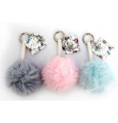 A lovely fluffy keyring or bag charm.