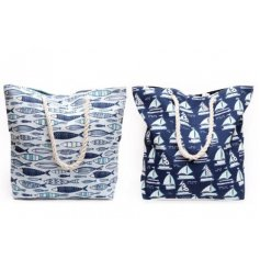 this mix of blue toned beach bags will be sure to hold all the necessities of a day out at the beach!