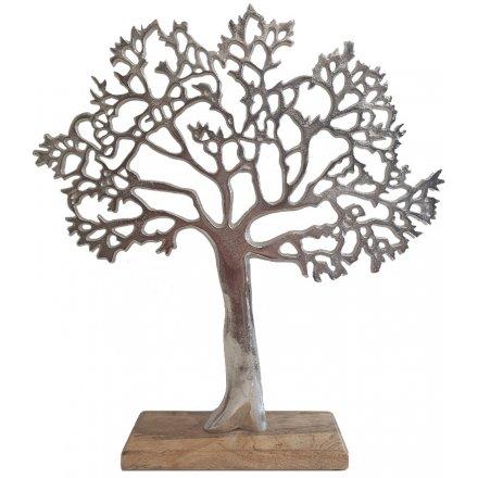 Decorative Tree On Block, 42cm