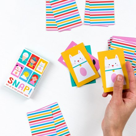 A fun pack of snap cards in a useful pocket box.