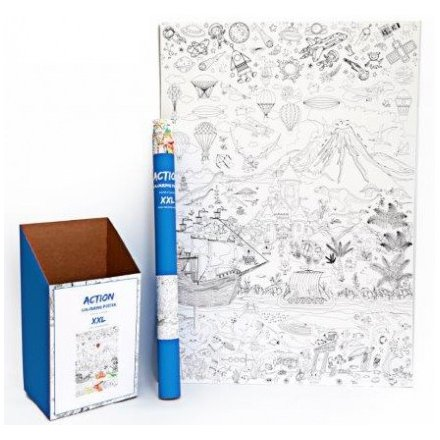 Colour In Poster - Action 100cm