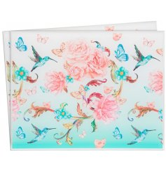 Bring a beautiful burst of colour to any dining room with this delightfully printed set of placemats