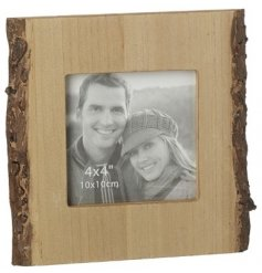 Add a Rustic Woodland Charm to any home space with this unique styled Wooden Bark Frame