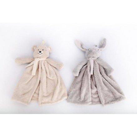 Baby Bear and Bunny Comforter Blankies