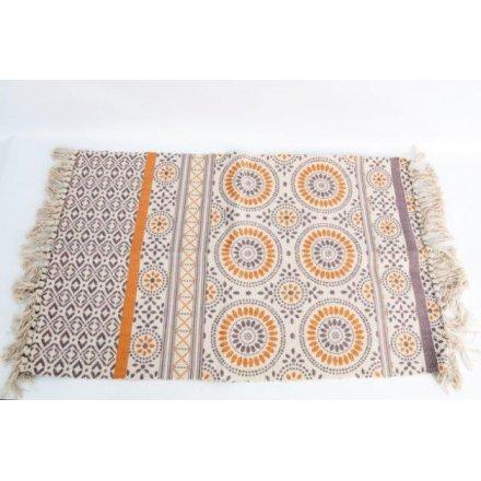 Printed Aztec Rug