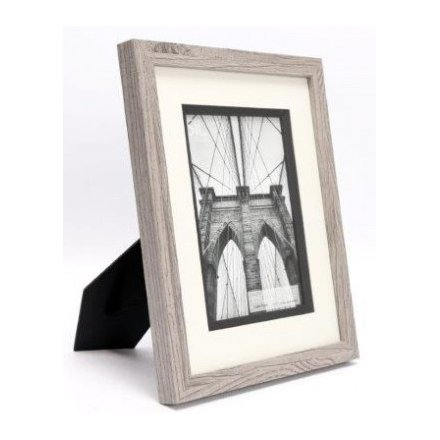 Grey Wood Picture Frame, 5x7""