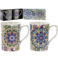 Each decorated with own beautifully colourful Mandala print