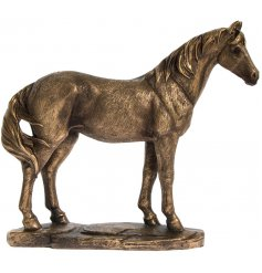 Add a Country Charm inspired edge to any home space or display with this beautifully decorated Bronzed Horse Figure