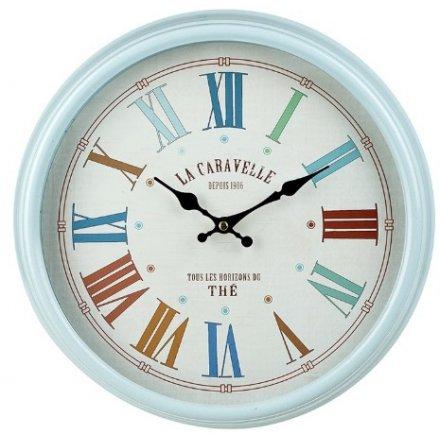 Blue Rimmed Vintage Clock