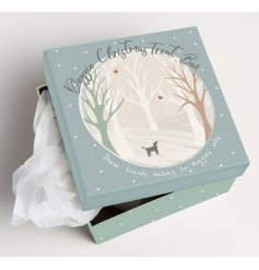 Beautifully decorated with a snowy woodland scene and scripted text decals,