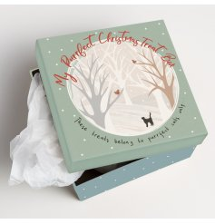 Beautifully decorated with a snowy woodland scene and scripted text decals