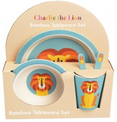 A fun themed Charlie Lion Tableware Set from REX International