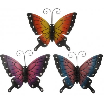 Assorted Metal Garden Butterflies, Large  39cm