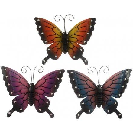 Assorted Metal Garden Butterflies, Small