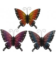 A charming mix of metal wall Butterflies, perfect for adding a splash of colour to any house or garden