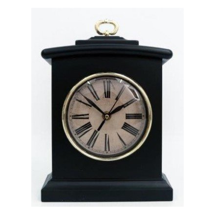 Black and Gold Table Clock