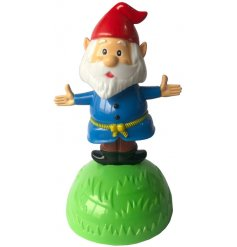 A fun dancing Gnome Solar Pal,