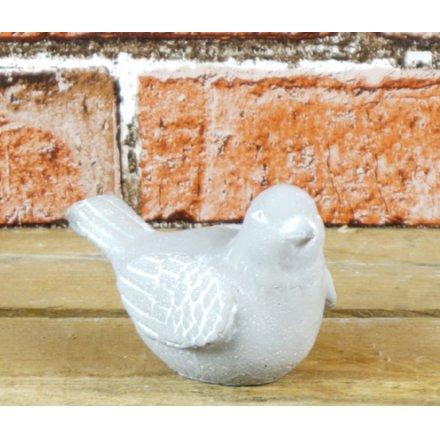 Stoneware Grey Bird 7cm x 10cm