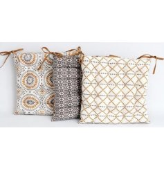 Bring a tending inspired edge to your home decor with this mix of plump decorative seat cushions