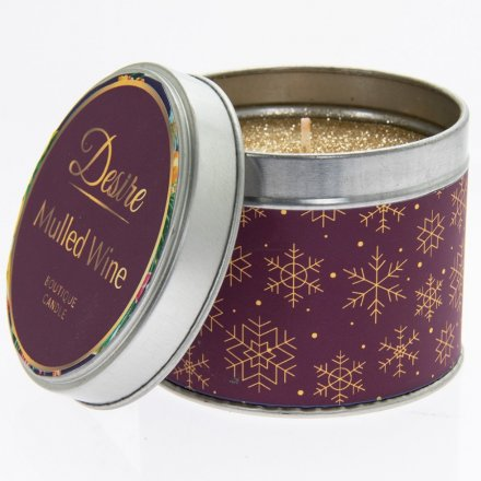 Festive Desire Candle Tin - Mulled Wine