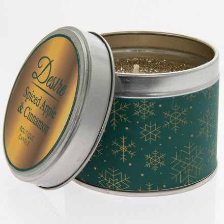 Festive Desire Candle Tin - Spiced Apple & Cinnamon
