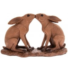 this beautiful kissing hare ornament will look perfect in any Country Charm themed home