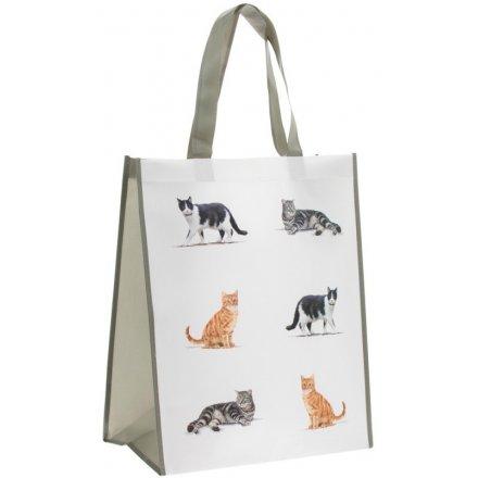 Cat Fabric Shopping Bag