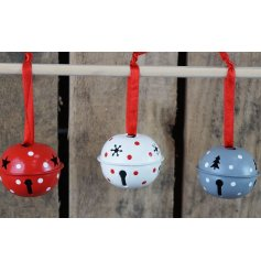 Bring a Nordic touch to your home decor at Christmas with this pack of assorted coloured hanging bells