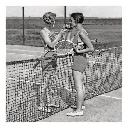 Tennis Break Greetings Card