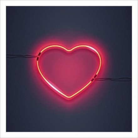 Neon Heart Greetings Card
