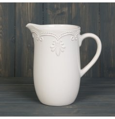 this Ceramic White Jug will be sure to place perfectly in any home