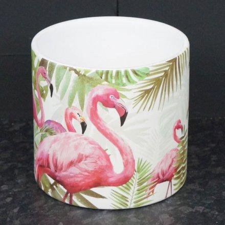 13 cm Flamingo Pot