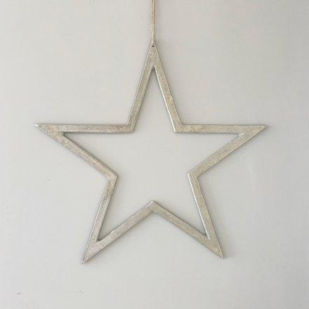 Raw Nickel Finish Star, 60cm