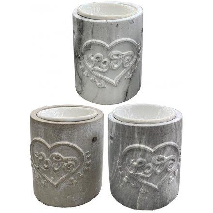 Assorted Concrete Oil Burners, 3asst