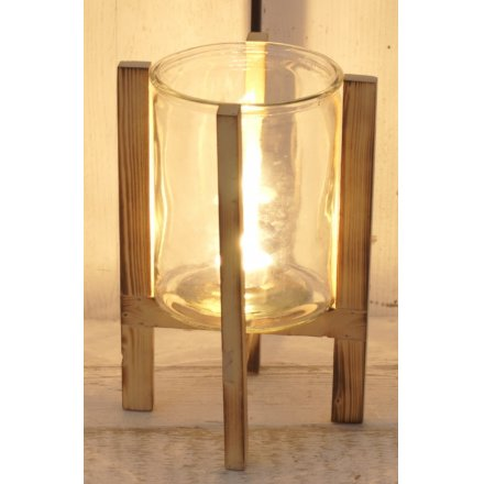 Contemporary Glass Candle Holder