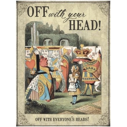 Vintage Metal Sign, Alice Your Head