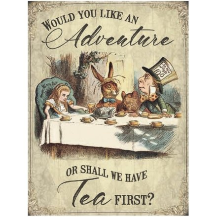 Vintage Metal Sign, Alice Adventure