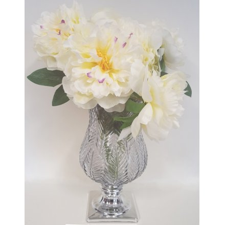 A charming bunch of Artificial Peonies in a snowy white colour