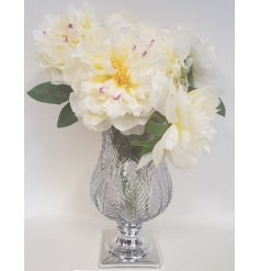 A Large Bunch of Artificial Snowy White Peonies, a delightful accessory to add to any home