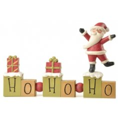 this festive themed resin block will be sure to add a cheery spirit to any home at Christmas
